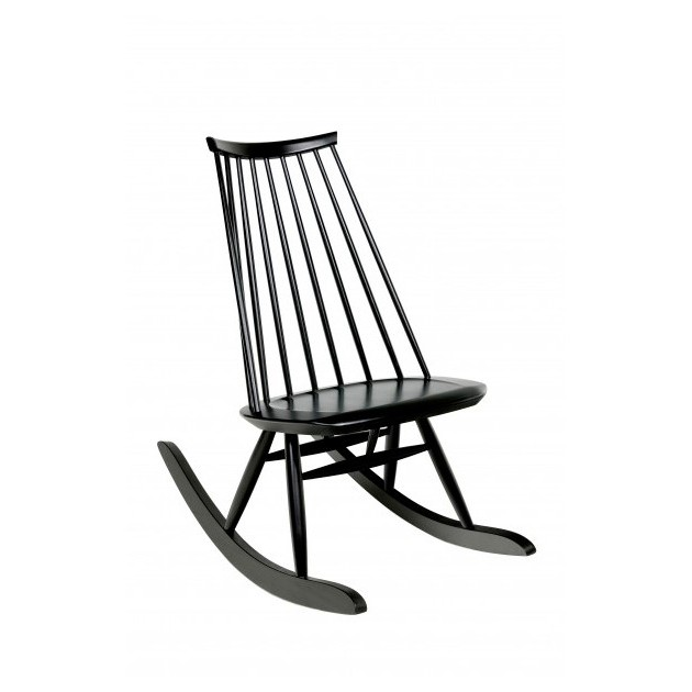 Rocking chair Mademoiselle teñida negro de Artek