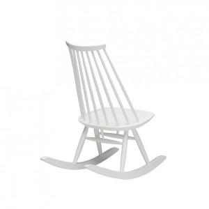 Rocking chair Mademoiselle lacado blanco de Artek