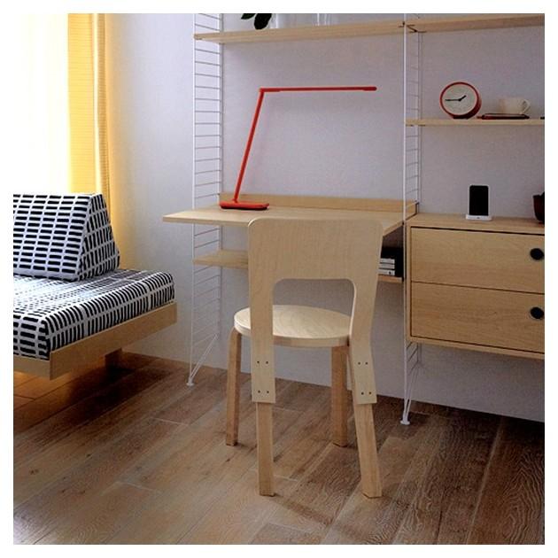 Habitación con Silla para niños N65 abedul lacado natural de Artek