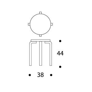 dimensiones Taburete E60 de Artek