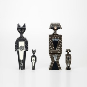 Wooden Dolls Cat & Dog familia frente Vitra