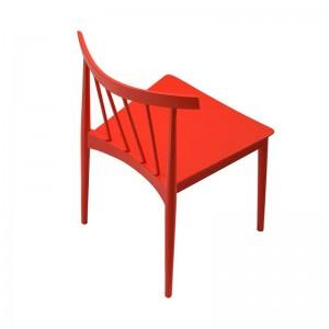 Silla Smile SI-0323 Andreu World lacado roja