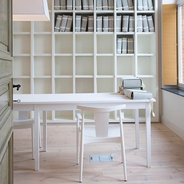silla Smile SI-0325 Andreu World lacada blanca