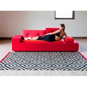 salón sofá y Alfombra Melange Pattern 1 Nanimarquina
