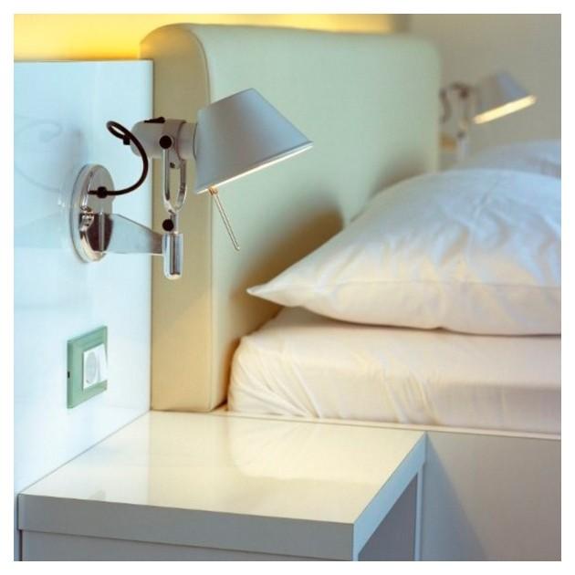 dormitorio aplique de pared Tolomeo Micro aluminio Artemide