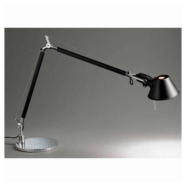 lámpara de sobremesa Tolomeo negra Artemide.