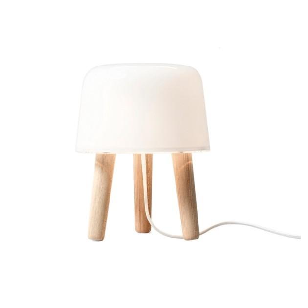 Lámpara de mesa Milk AndTradition cable blanco