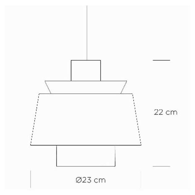 medidas Lampara de suspensión Utzon JU1 &Tradition
