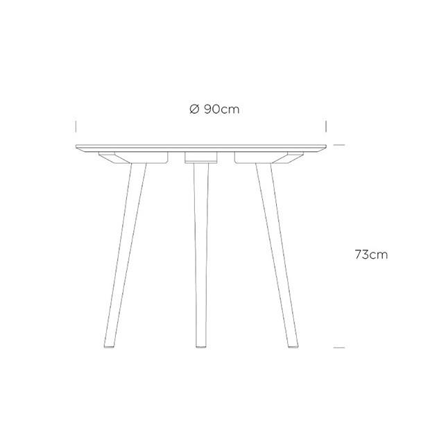 dimensiones mesa auxiliar In Between SK3