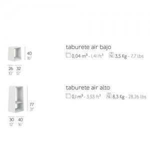Taburete Air alto Diabla outdoor medidas