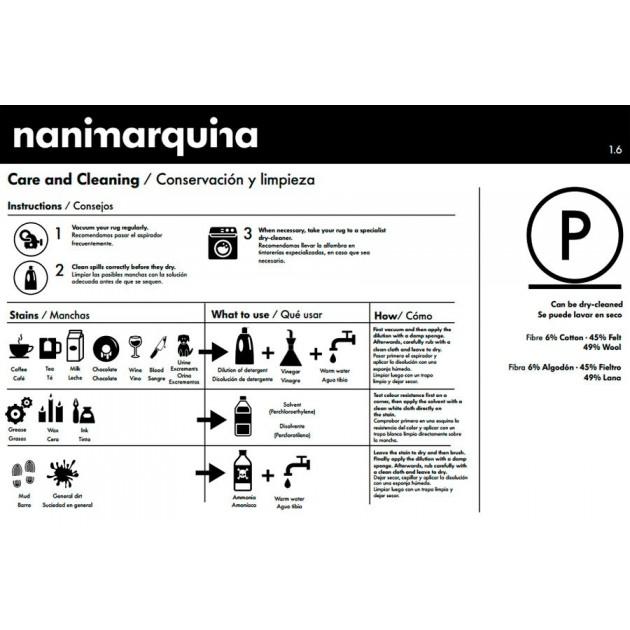 consejos cuidado Alfombra Tres color ocre Nanimarquina