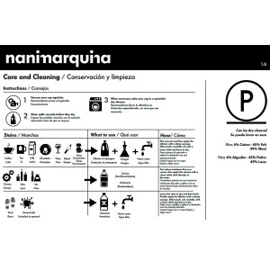 cuidados Alfombra Tres Stripes negro Nanimarquina