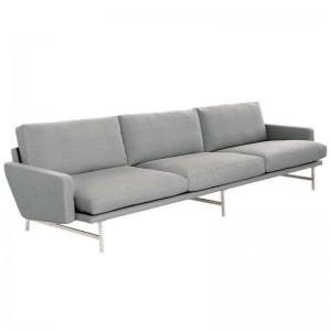 Sofá de 3 plazas Lissoni gris de Fritz Hansen en Moises Showroom