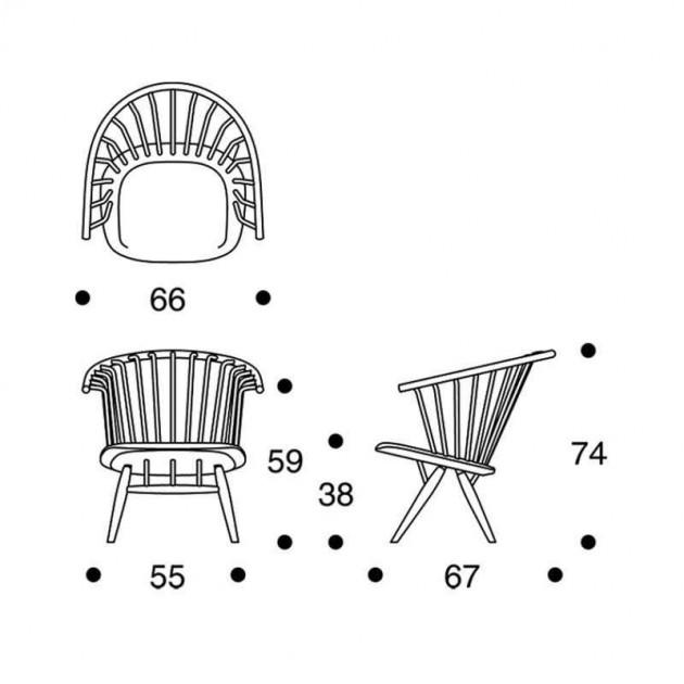 dimensiones Silla con brazos Crinolette Artek