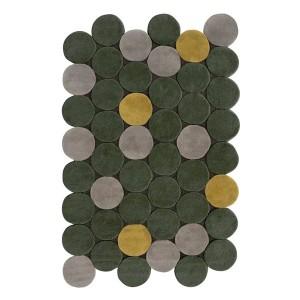 Circulos alfombra verde - Gan Rugs