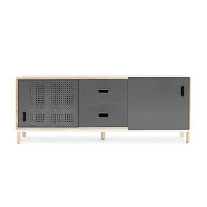 Aparador 2 cajones Kabino sideboard color gris de Normann copenhagen