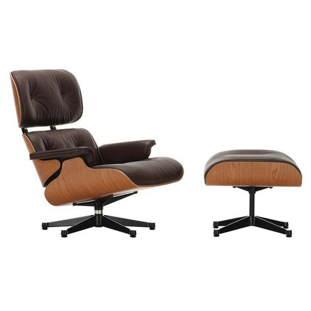 sillón Lounge chair & Ottoman Vitra cerezo americano