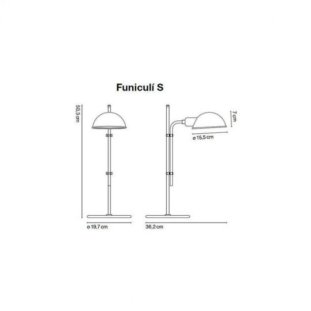 dimensiones Lámpara de mesa Funiculí S Marset