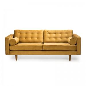 Sofá N101 3 seater Gold Velvet - Ethnicraft