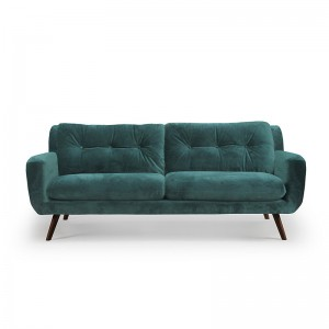 Sofá N801 3 seater Green Velvet - Ethnicraft