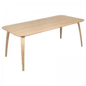 GUBI Dining Table Wood Rectangular