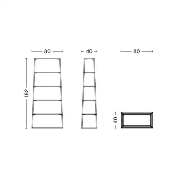 HAY estanteria Eiffel 6 estantes medidas