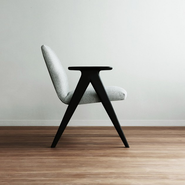 Butaca Libera patas negras - tapicería FRB004