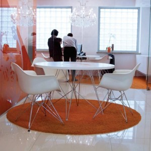 salón Mesa redonda xz3 Magis MDF blanco
