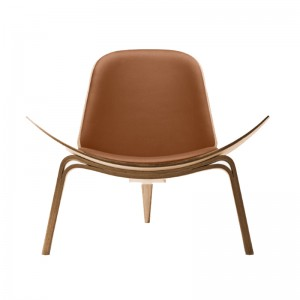 Carl Hansen CH07 Shell Chair oak aceite piel thor 307