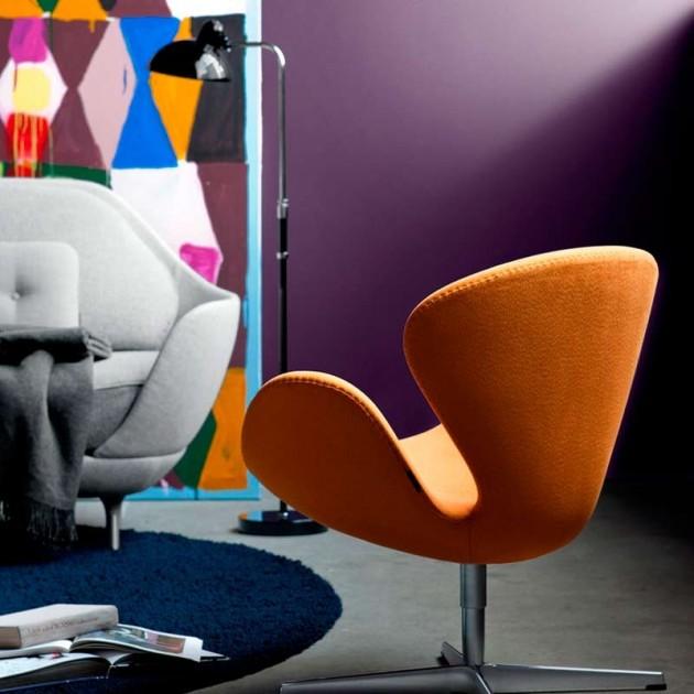 Ambiente sofás con Lámpara de Pie Kaiser Luxus color negro de Fritz Hansen