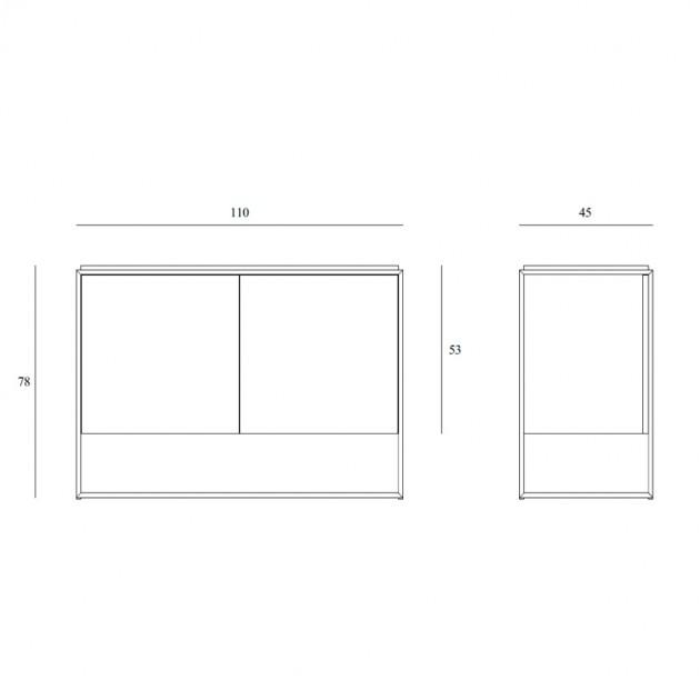Aparador Monolit blanco 2 puertas Etnicraft