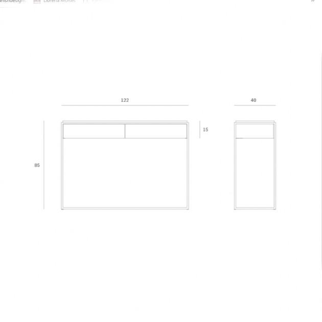 Consola Monolit blanca Ethnicraft
