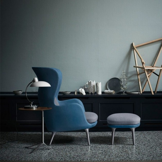 Ambiente con lámpara de mesa Kaiser Luxus de Fritz Hansen