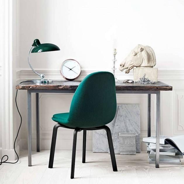 Escritorio con lámpara de mesa Kaiser Luxus color verde oscuro de Fritz Hansen