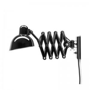 Lámpara extensible Kaiser de pared color negro de Fritz Hansen