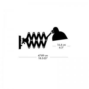 Medidas y posiciones de lámpara Kaiser de Fritz Hansen