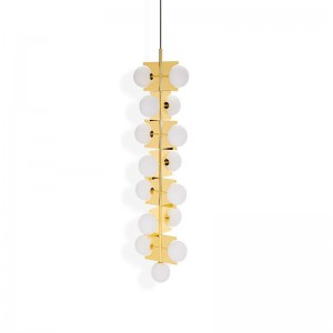 Tom Dixon Lámpara Plane Drop Chandelier