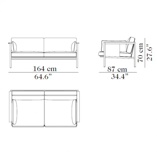 Medidas del sofá FLYT de Carmenes - Moises Showroom.