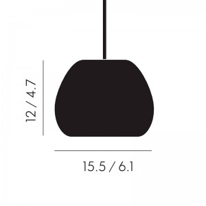 Lámpara Void Mini Pendant Tom Dixon medidas