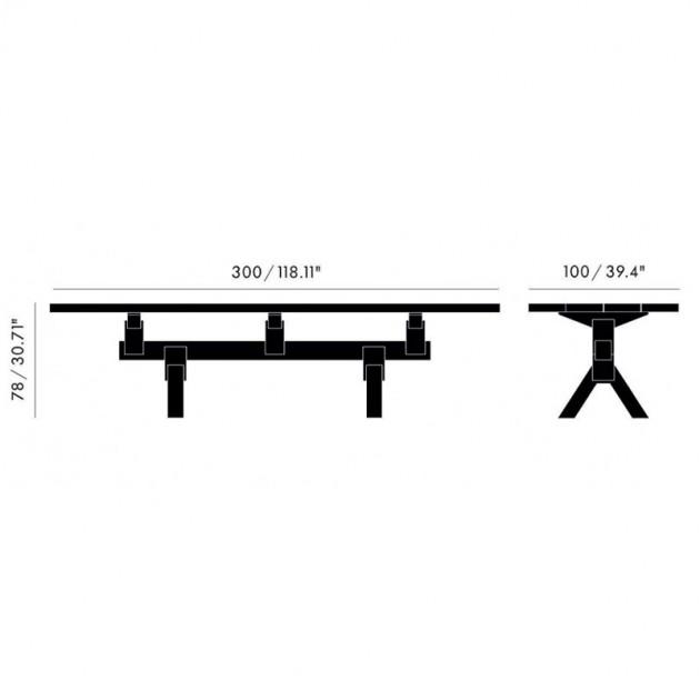 Mass Table Tom Dixon medidas