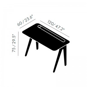 Slab Individual Desk Small Tom Dixon medidas