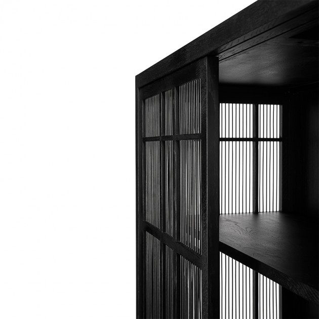 Armario Burung 4 puertas Roble negro - Ethnicraft
