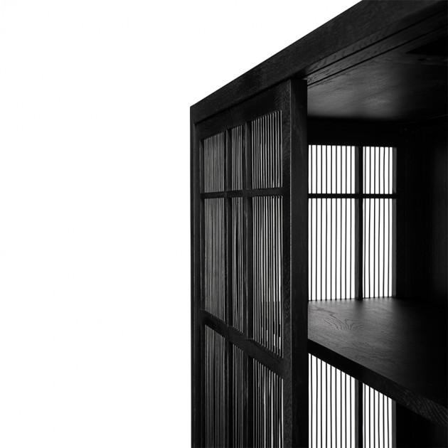 Armario Burung 2 puertas Roble negro - Ethnicraft