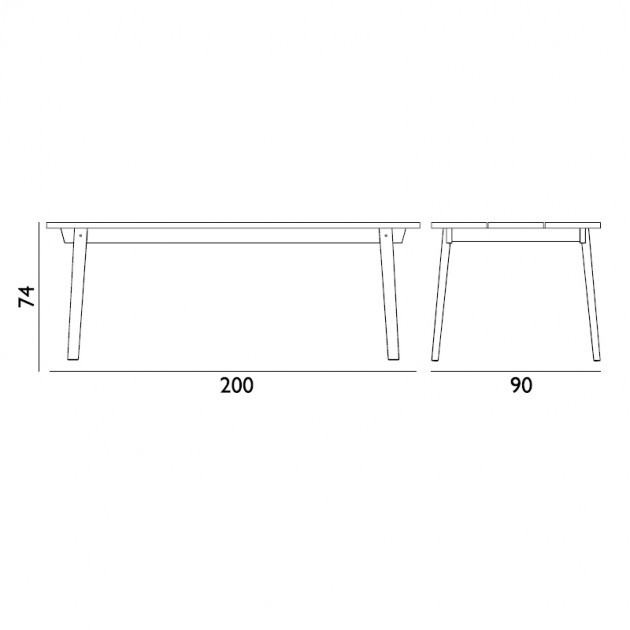 Mesa de comedor rectangular Slice Linoleum de Normann Copenhagen