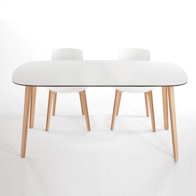 Mesa Lottus wood de Enea en Moises showroom