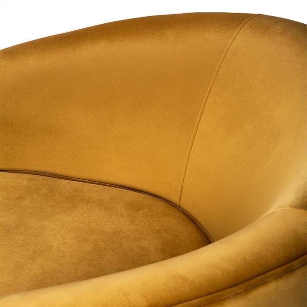 Sillón Swivel en terciopelo dorado de Etnicraft en Moises Showroom