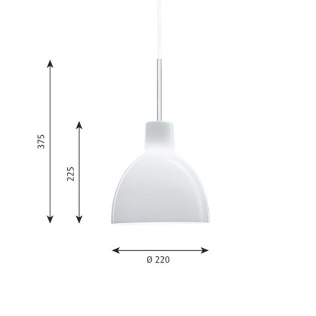 Lámpara Toldbod 220 Glass de Louis Poulsen medidas
