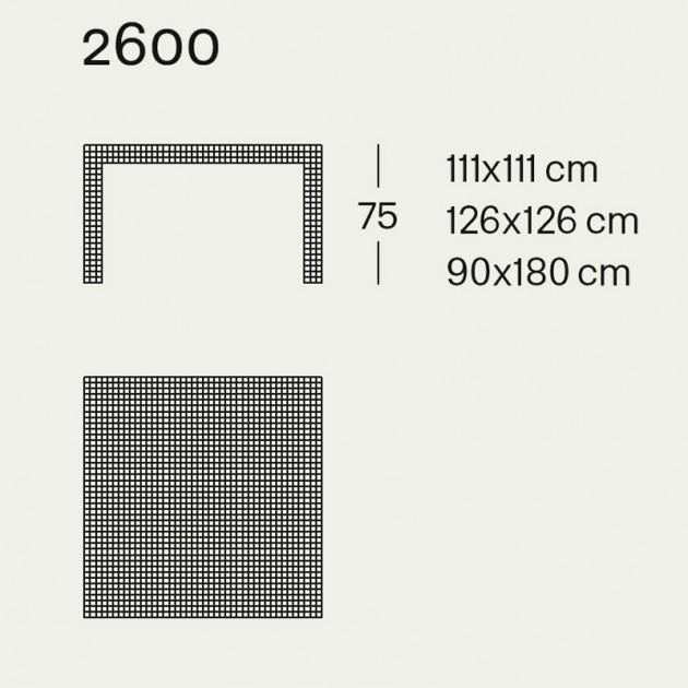 Quaderna Mesa 2600 Zanotta medidas