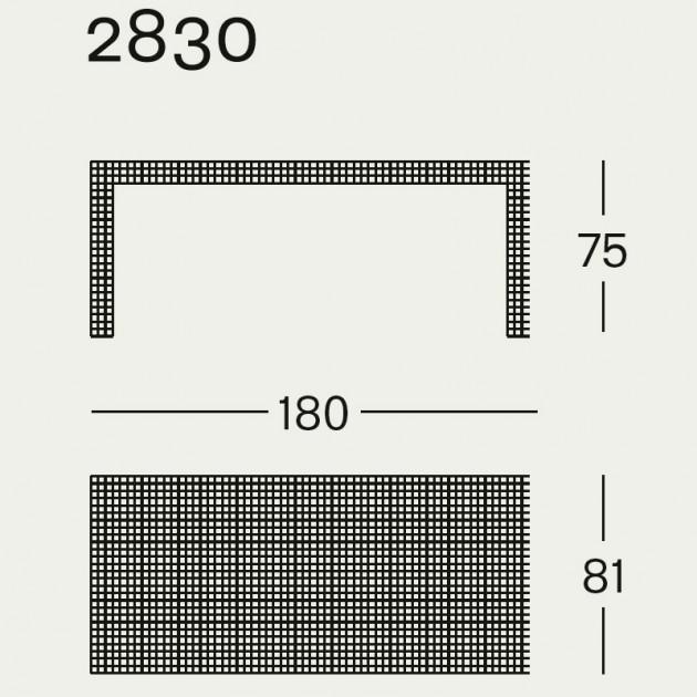 Quaderna Escritorio 2830 Zanotta medidas