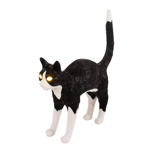 Lámpara Gato Félix blanco y negro Seletti